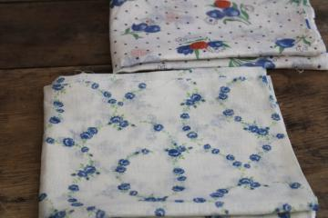 1930s vintage print cotton fabric light airy gauze or scrim, like cheesecloth