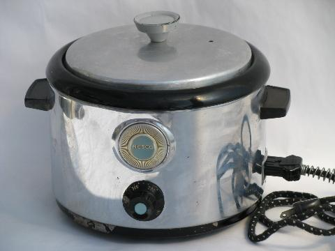 1930s Vintage Round Nesco Roaster Oven Electric Slow Cooker