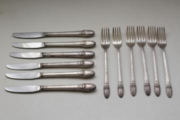1930s vintage silverplate flatware, First Love International Silver 1847 Rogers