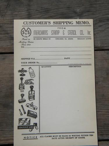 1940/1950s vintage sign and stencil company advertising order pads w/graphics