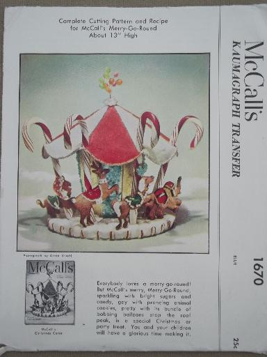 60s 60s Vintage McCalls Craft Pattern Carousel Party Table Inspiration Mccalls Craft Patterns
