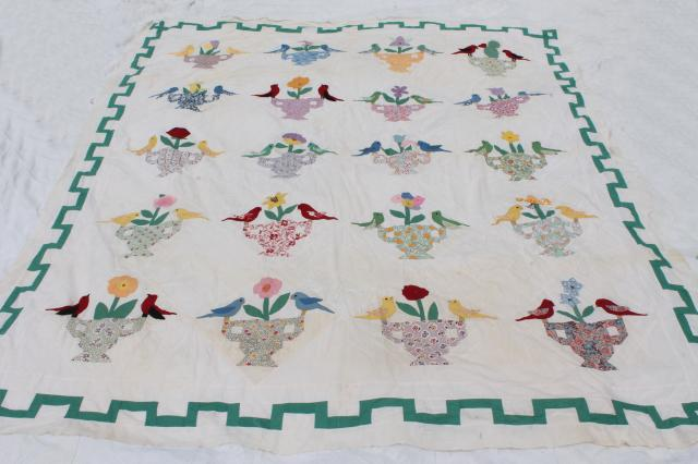 Amish styled mariners compass finished quilt great hand applique