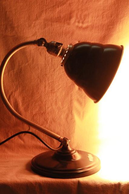 1940s Art Deco Adjustable Lamp Skyscraper Shade Mid Century Vintage Industrial Lighting