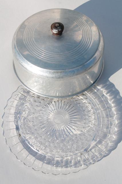 Vintage Crystal Cake Plate With Dome