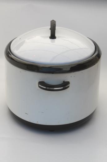 1940s Vintage Nesco Roaster Oval Slow Cooker W