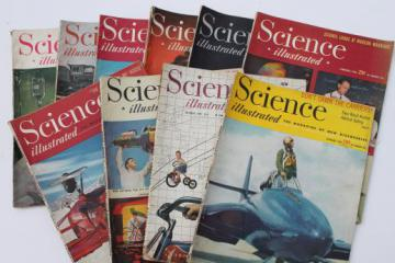 1940s vintage Science Illustrated magazine lot, popular scientific magazines