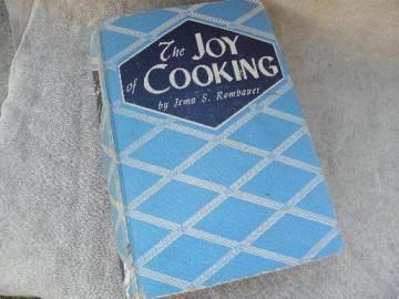 1940s vintage edition The Joy of Cooking cook book, dated 1943