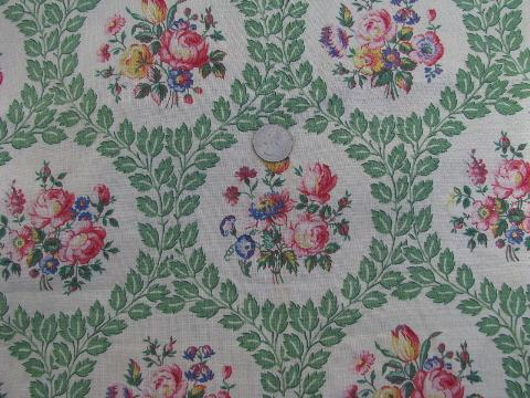 Floral Roses Print Floral Print Cotton Fabric