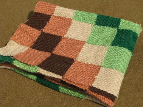 1940s Vintage Handwoven Wool Blanket Weave It Loom