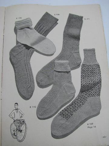 1940s vintage needlework pattern booklet, knitted Socks ...