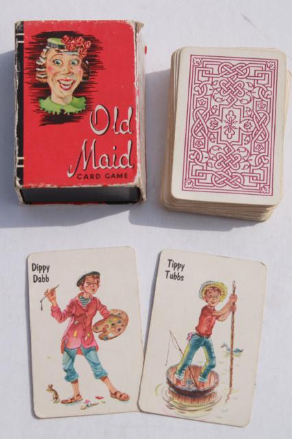 1940s vintage playing cards, mini card games w/ Donald Duck, Animal Rummy, Snap etc.