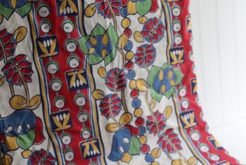 1940s vintage print cotton fabric, fiesta bright colors, old Mexico style!
