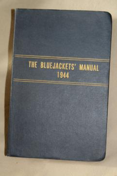 1944 Bluejackets Manual, WWII US Navy sailors handbook military training guide
