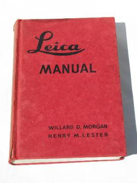 1944 Leica camera photography manual w/ illustrations of vintage photo equipment