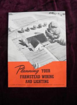 1946 USAD rural electrification bulletin Farmstead Wiring and Lighting