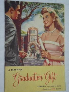 1948 color Lane furniture advertising leaflet, cedar hope chest styles