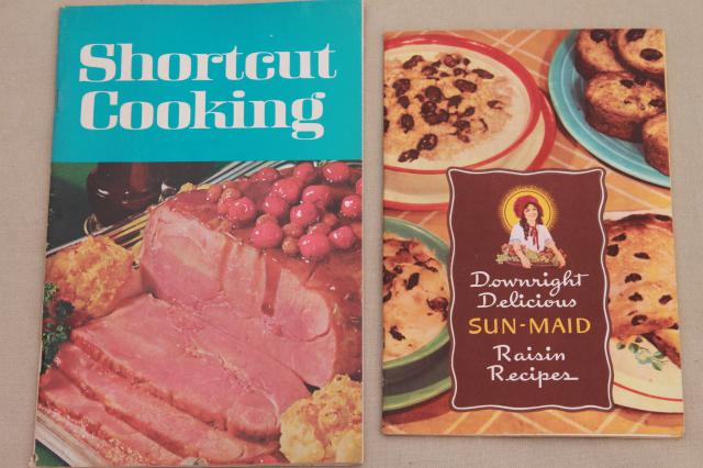 1950s 60s 70s cookbooks lot, old advertising recipe booklets, vintage appliance guides