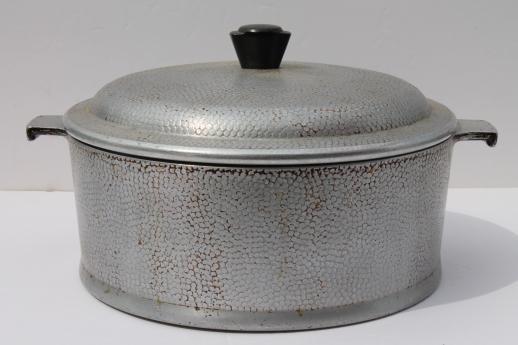 1950s Vintage Kinney Flavor Seal Aluminum Cookware Dutch