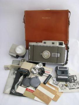 1950s vintage Polaroid model 800 land camera w/light meter/shutter etc