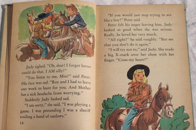 1950s vintage Roy Rogers on the Double R Ranch picture book early reader western story