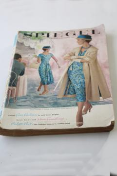1950s vintage Spiegel's mail order catalog, 1957 Spring / Summer big book
