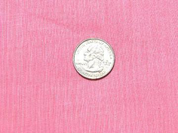 1950s vintage cotton crinkle fabric, solid color candy pink, 6 yards