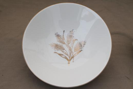 1950s Vintage Gold Wheat China Knowles Golden Wheat