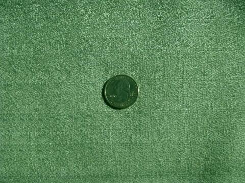1950s Vintage Pale Nile Green Rayon Barkcloth Fabric For