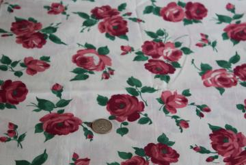Antique  Mustard Yellow Cottage Roses on Blush Pink Cotton Fabric~