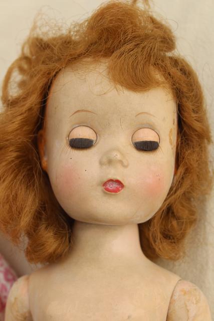 1950s Vintage Walking Doll Ideal Saucy Walker In Pink