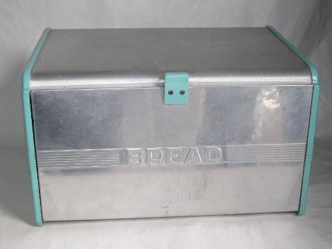 Turquoise Bread Box Best 60s60s Vintage Aqua Plastic Aluminum Bread Box Retro Kromex Style