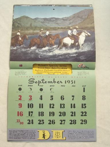 Vintage Advertising Calendar