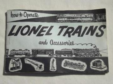 1954 vintage Lionel Trains instruction book, 64 pg illustrated booklet