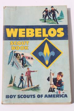 1960s vintage Webelos Scout handbook Boy Scouts guide book manual dated 1969