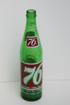 1970s vintage 76 soda pop bottle, bicentennial American patriotic holiday decor