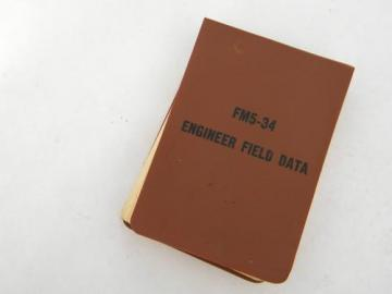 1976 US Army engineer field manual/handbook FM5-34 bridges/bunkers+