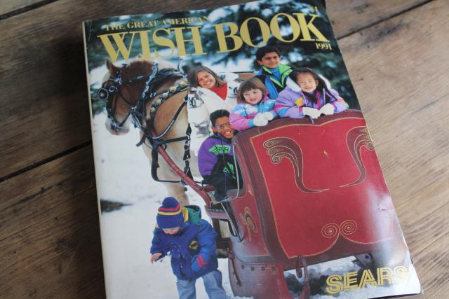 1991 Sears Christmas Wish book catalog, 90s fashion clothes, toys, electronics