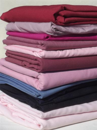 20+ lbs fabric suitings & pants suit fabrics, solid colors  for rugmaking
