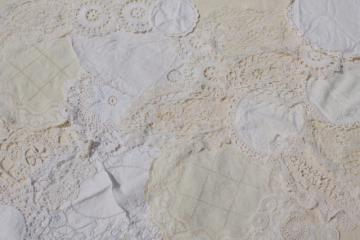 20+ vintage lace doilies, antique crochet & needlelace doily lot, small lace motifs