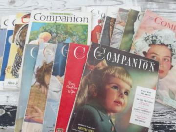 30s 40 50s vintage Woman's Home Companion magazines lot, 14 issues