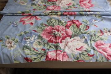 Fabric Flower Vintage Floral Shabby Cottage Chintz BTY Country Marcus Quilting