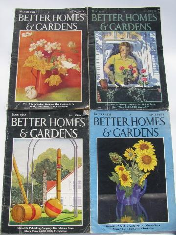 30s vintage better homes and gardens magazines retro ads