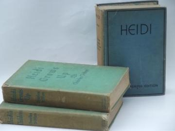30s vintage Heidi and sequels series books, Shirley Temple photos