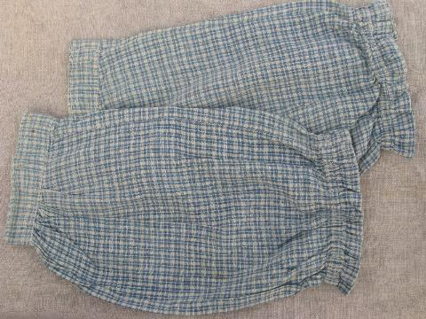 30s vintage arm aprons, cotton housedress sleeves for kitchen and cleaning