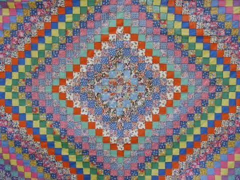 Quilts Tumbling Blocks Patterns Free Quilt Pattern