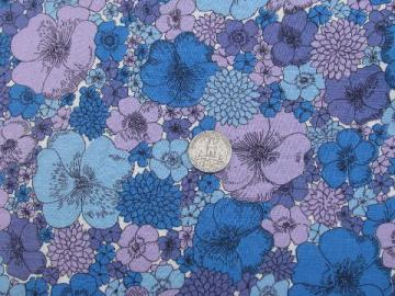 36'' wide cotton print quilting weight fabric, 50s vintage floral