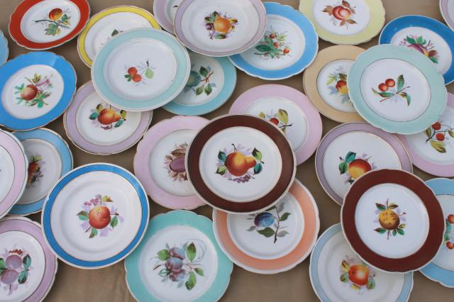 40+ antique china plates w/ hand painted fruit shabby chic rustic wedding vintage dishes & 40+ antique china plates w/ hand painted fruit shabby chic rustic ...