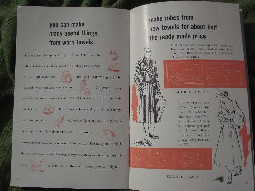 40s 50s vintage advertising booklets, brides guides to bath towels