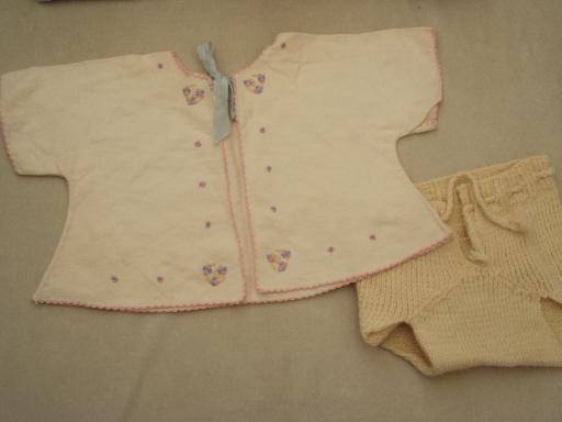 40s 50s Vintage Baby Clothes Lot Sweet Shabby Old Doll