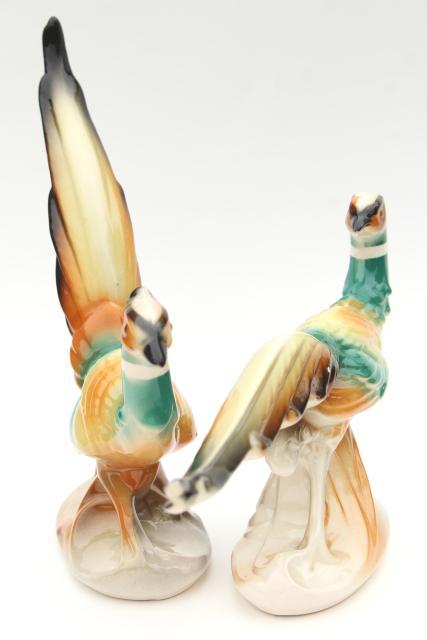 Vintage HUGE ceramic pheasants